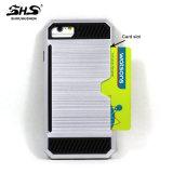 Shs escovou a caixa híbrida do telefone do efeito do teste padrão para o iPhone 7