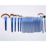 голубой профессиональный комплект щеток состава 24PCS с синтетическими волосами