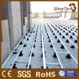 Piédestal composé augmenté de plastique de plancher du matériau de construction WPC