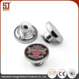 Tecla redonda simples personalizada da pressão do Prong do metal para calças de brim
