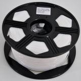 Filamento bianco popolare dell'ABS di colore con la bobina di plastica bianca