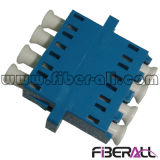 Canales ópticos del adaptador 4 de fibra de Quadplex LC para la fibra unimodal