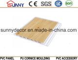 나무로 되는 색깔에 의하여 박판으로 만들어지는 PVC 위원회 PVC 천장 플라스틱 벽면, Cielo Raso De PVC