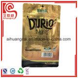 Aluminiumfolieplastikreißverschluß getrocknete Durian-Chips, die Beutel verpacken