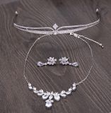Ювелирные изделия тиар волос серьги ожерелья Zircon высокого качества для венчания невесты