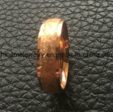 Шикарный песок крена ювелирных изделий на поверхностном кольце золота Rose (SSR2794)