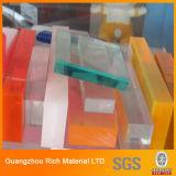 厚いClear&Colorはアクリルシートのプレキシガラスのプラスチックボードを投げた