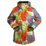 Esqui ao ar livre do revestimento de esqui de Wonem que veste o terno de esqui morno Windproof