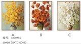 Pintura al óleo decorativa de las flores con el marco, pintura de la lona