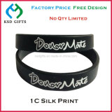 Wristband de borracha fino do silicone do bracelete da forma para o partido
