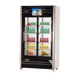 Schiebendes Glas-Tür-Multimedia-Getränkekühlraum mit LED-Bildschirm
