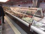 O vidro curvado Refrigerated a caixa fria do indicador da carne do supermercado fino da padaria