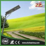 Valutazione solare Integrated 40W tutto dell'indicatore luminoso IP67 del sensore di movimento di vendita calda in un indicatore luminoso di via solare senza Palo