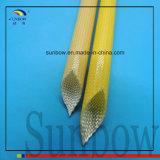 Полиуретан Coated Sleeving10.0mm сплетенное стеклянным волокном Амбер Fray упорный