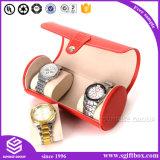 Caixa de relógio feita sob encomenda luxuosa do couro da forma da bolsa