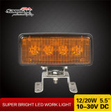 Lámpara campo a través del trabajo de la agricultura de 20W LED de la luz de aluminio 5.5 del trabajo ''