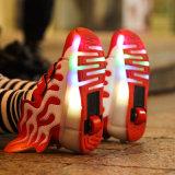 2016 Rad-Rollen-Rochen-einziehbare Schuh-Turnschuhe des neuen Modell-2 für Jungen-Mädchen, bester Qualitätskind-Rollen-Rochen