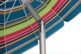 7.9FT 10 Panels versilbern Beschichtung-Sand-Anker-Hochleistungsstrand-Regenschirm mit der Neigung, Mehrfarben (rot, gelb, blau)