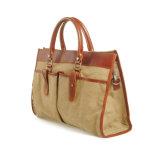 Bolsas do desenhador de moda do couro genuíno de saco de mão da lona do desenhador de moda (RS-880)