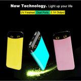 banco novo da potência 8000mAh com o carregador de bateria Twinkling do telefone móvel de olhos de gato