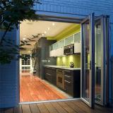 Алюминиевая стеклянная дверь складчатости с прокатанным стеклом
