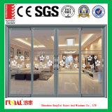 Puerta de vidrio de desplazamiento de aluminio del marco