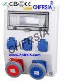 Rectángulo industrial de la potencia de la combinación del socket, recinto eléctrico