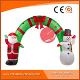 Noël gonflable Santa et décoration H1-301 de voûte de bonhomme de neige