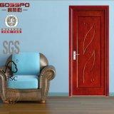 Painel de mogno do folheado do MDF que cinzela a porta de madeira (GSP8-017)