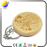 Catena chiave di legno di vendita calda del faggio per i regali promozionali