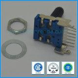 11mmの回転式電位差計ミキサーのアンプのためのプラスチックシャフト8 Pin