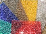 Placa gravada folha do diamante do policarbonato