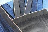Черная джинсовая ткань зальбанда Slub