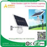 Luz solar del jardín del LED con la batería de litio y la luz dévil