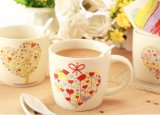 La nueva Caliente-Venta 12oz del diseño enrarece la taza de café de cerámica con la impresión modificada para requisitos particulares