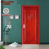Diseño de madera de la puerta interior del MDF de la chapa barata (GSP6-002)