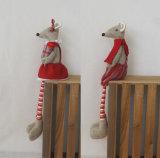 Modello con le gambe lunghe -2asst. del mouse del regalo della decorazione di festa
