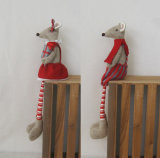 Longue décoration Gift-2asst. de vacances de garde d'enfants de souris de patte