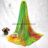 Madame étendue Silk Scarves de mode de plage d'impression de couleur de gradient