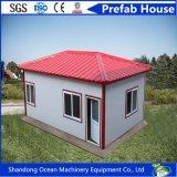 Casa prefabricada favorable al medio ambiente de la venta caliente del panel del material de construcción de la estructura de acero y de pared de Sanwich