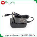 La marca di Merryking Parete-Monta l'adattatore di potere della spina AC/DC dell'Ue dell'adattatore di 12V 1A