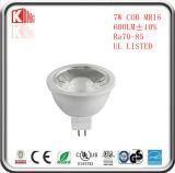 Lampadine di alluminio di vendita calde della PANNOCCHIA 7W Epistar LED MR16 di pezzo fucinato freddo