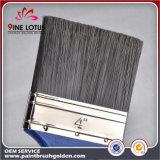 Pinceau en bois bleu rouge et blanc PBT de tête noire de matière plastique de la qualité et de traitement