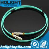 Duplex LC del cable de la corrección de la fibra al Aqua del LC 10g 2.0m m