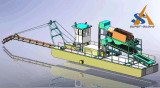 強い力の中国の1つの停止解決の提供を用いる携帯用カッターヘッドの吸引の浚渫船