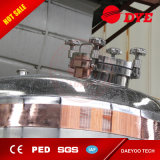 El tanque del equipo de la cerveza, fermentadora cónica industrial del acero inoxidable