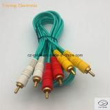 3RCA / 3r Conector / Jack a 3RCA / 3r Conector / Jack Cable AV / VGA / Audio / DVD / VCD (3r-3r)