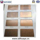 Feuille colorée par or d'acier inoxydable de Rose d'or de qualité de plaque métallique