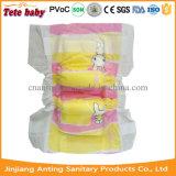 Fábrica de Fujian da fralda do tecido do bebê de Diaposable da boa qualidade do tipo do OEM
