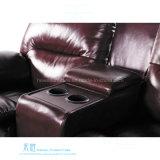 Sofá de couro moderno do Recliner para o teatro Home (DW-6018-1S)